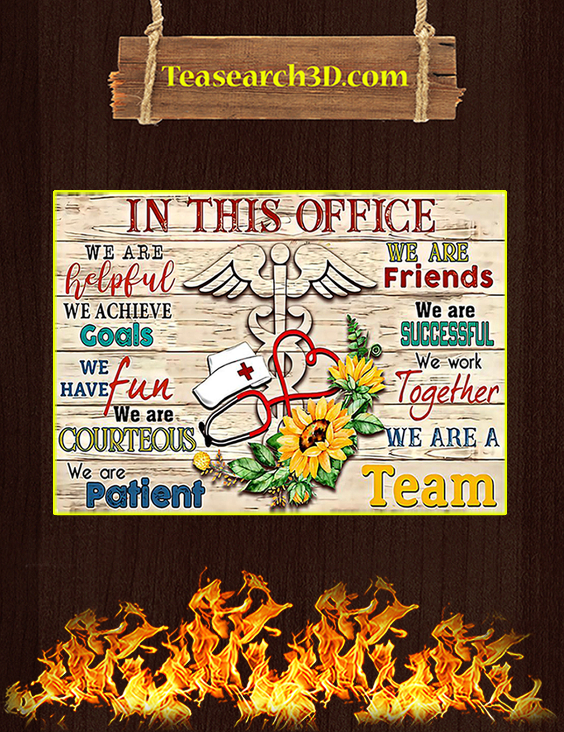 Nurse in this office we are helpful poster A3