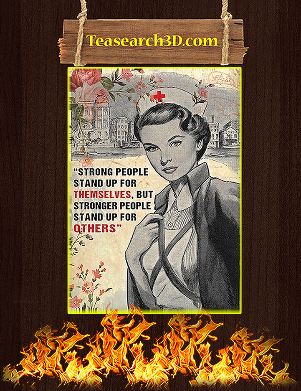 Nurse strong people stand up for themselves poster A1