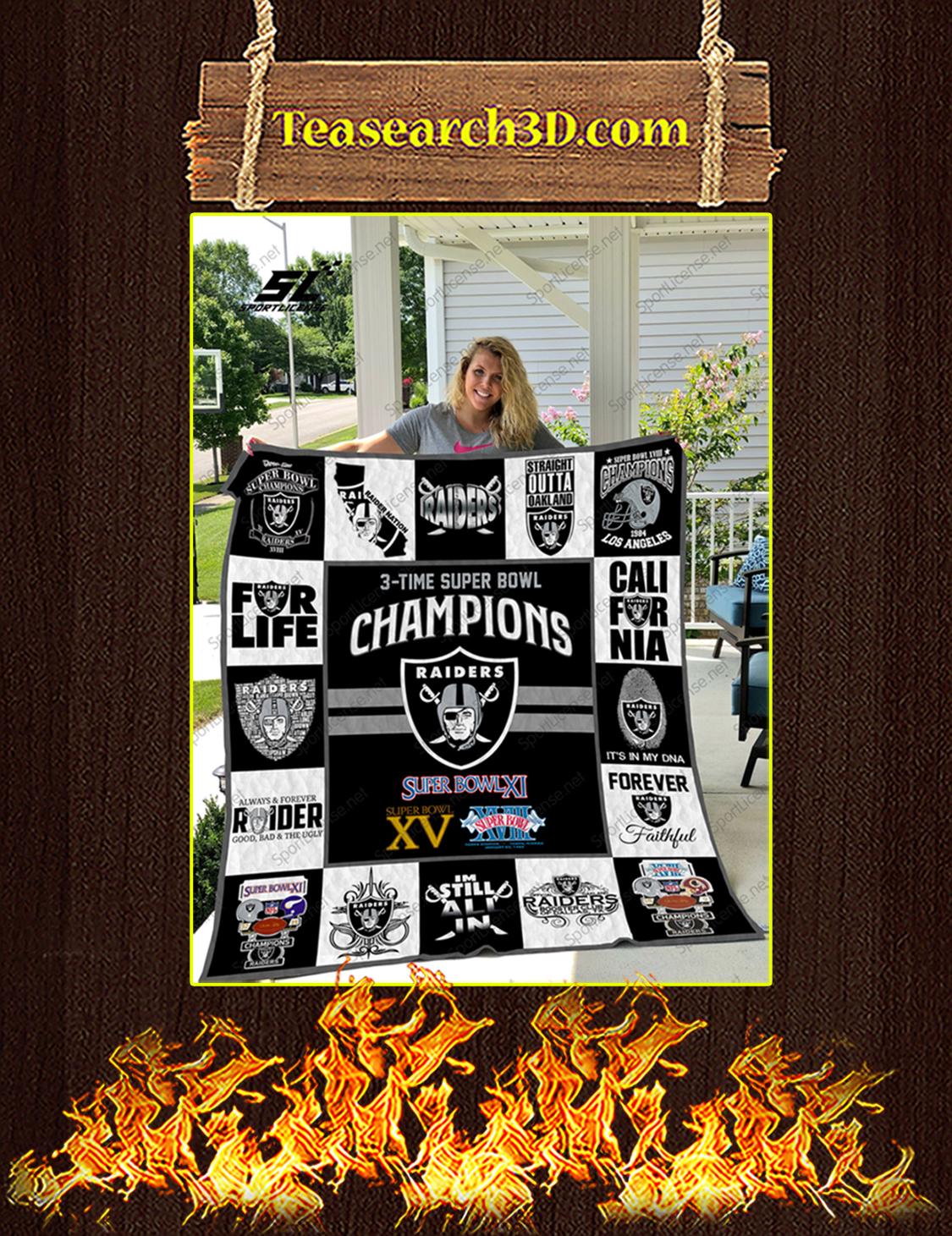 Oakland Raiders champions quilt blanket queen