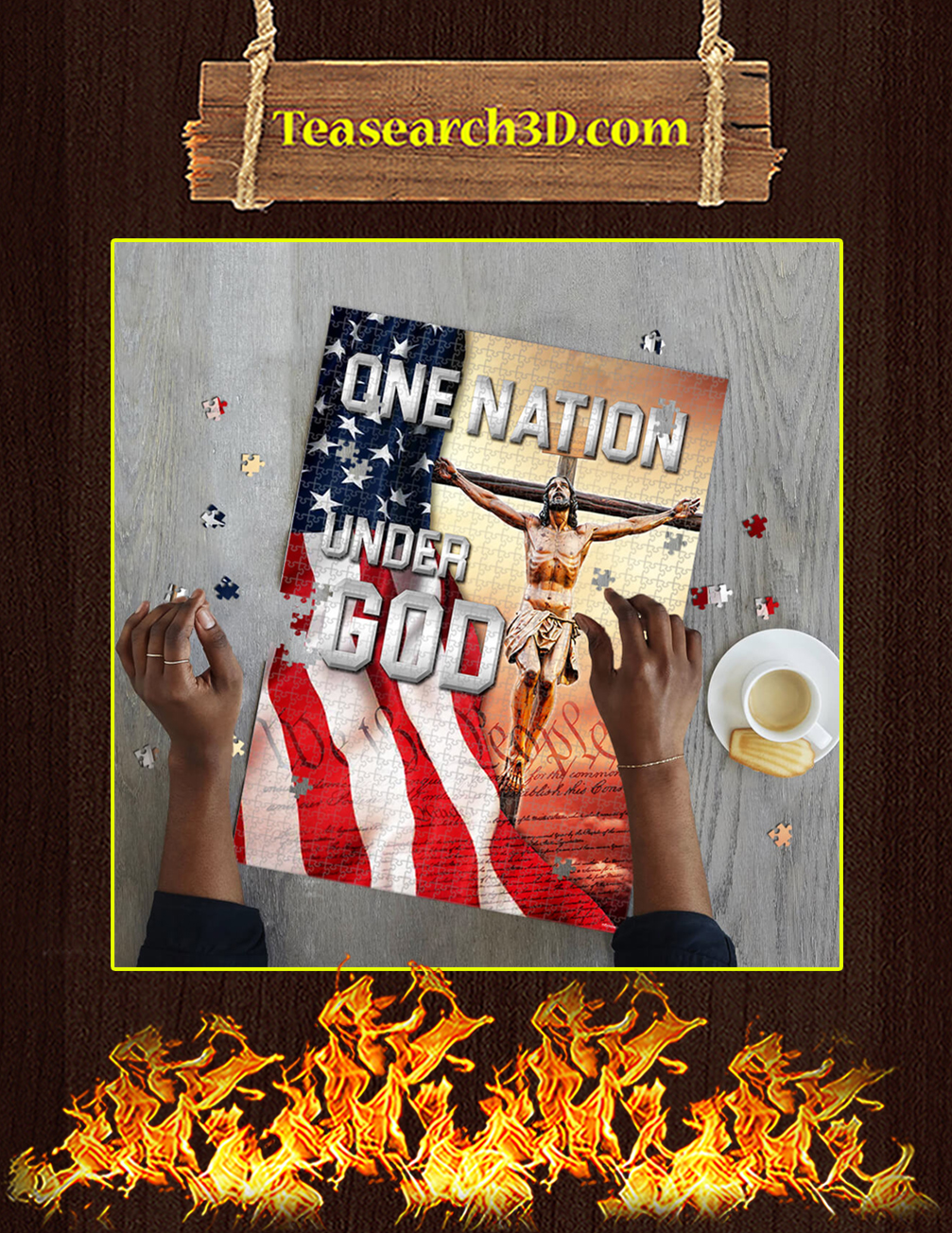 One Nation Under God Jigsaw Puzzle pic 1