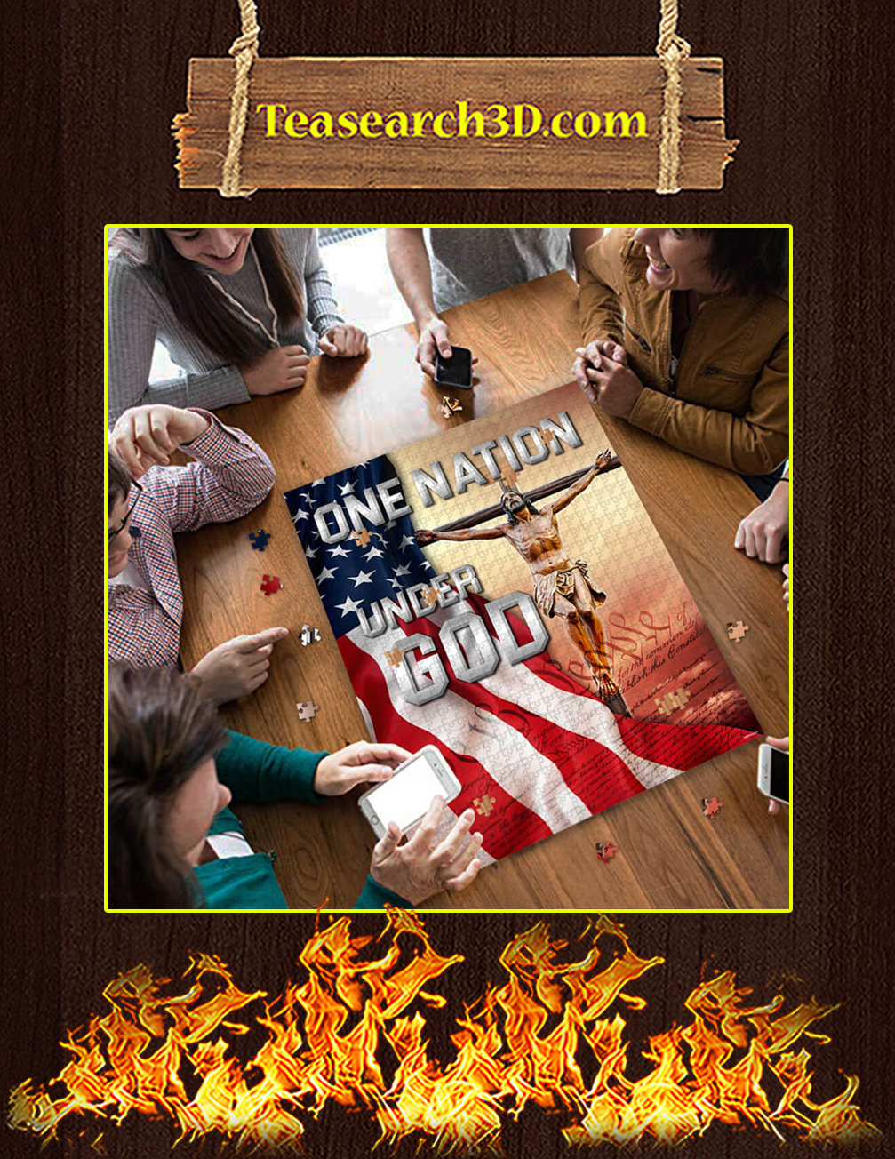 One Nation Under God Jigsaw Puzzle pic 2