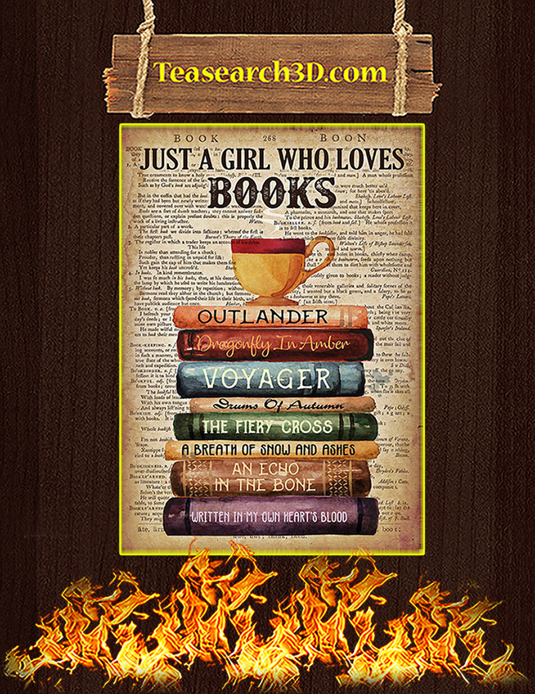 Outlander Just a girl who loves books poster A1