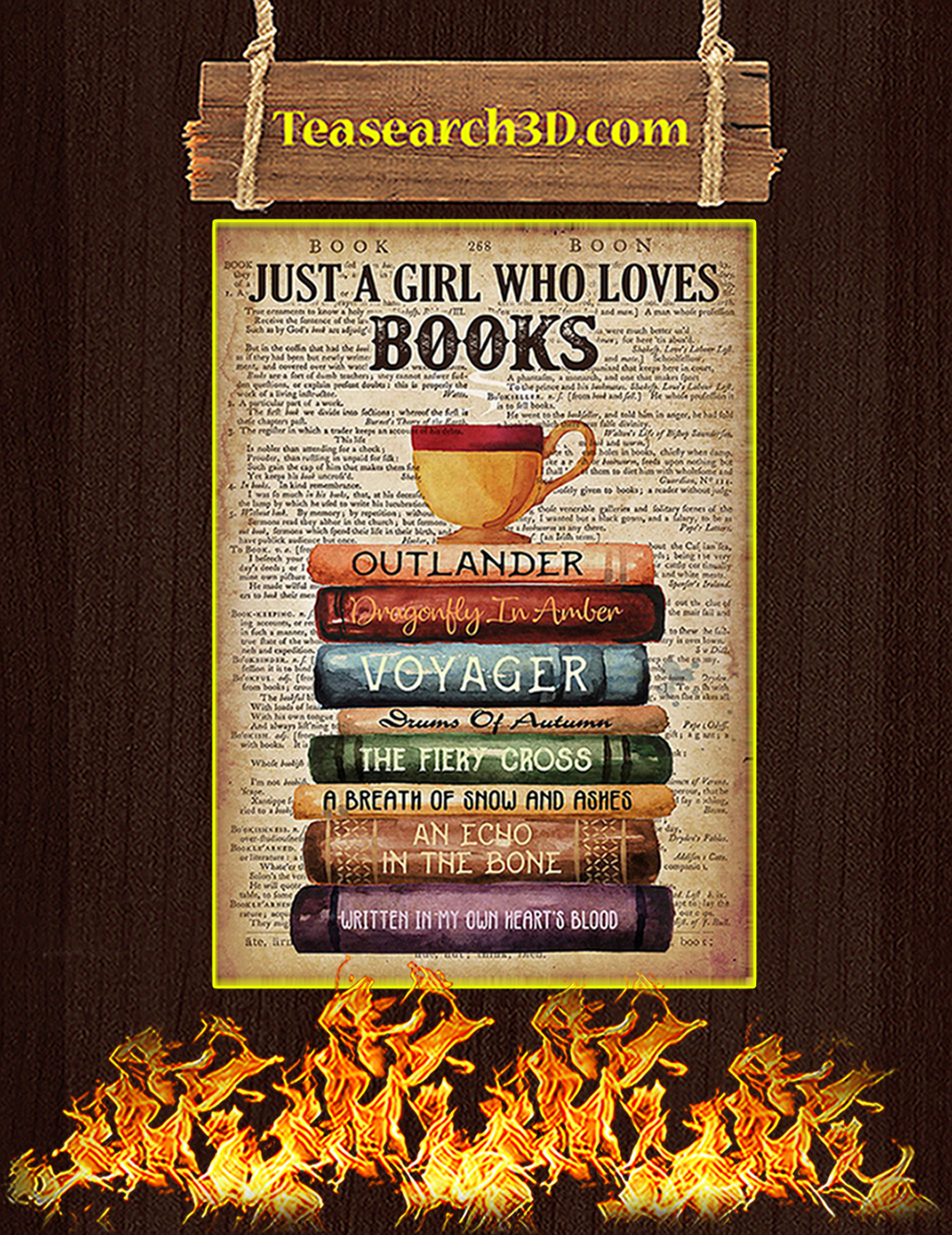 Outlander Just a girl who loves books poster A2