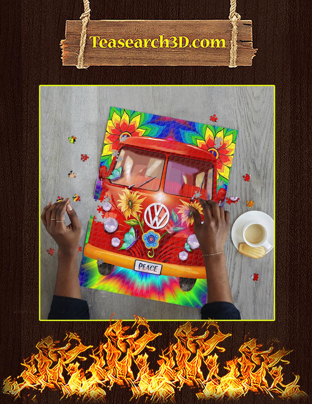 Peace Hippie Vans Jigsaw Puzzle pic 1