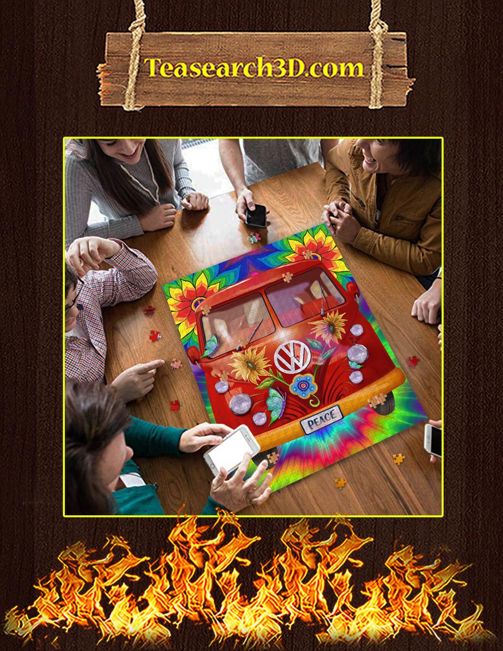 Peace Hippie Vans Jigsaw Puzzle pic 2
