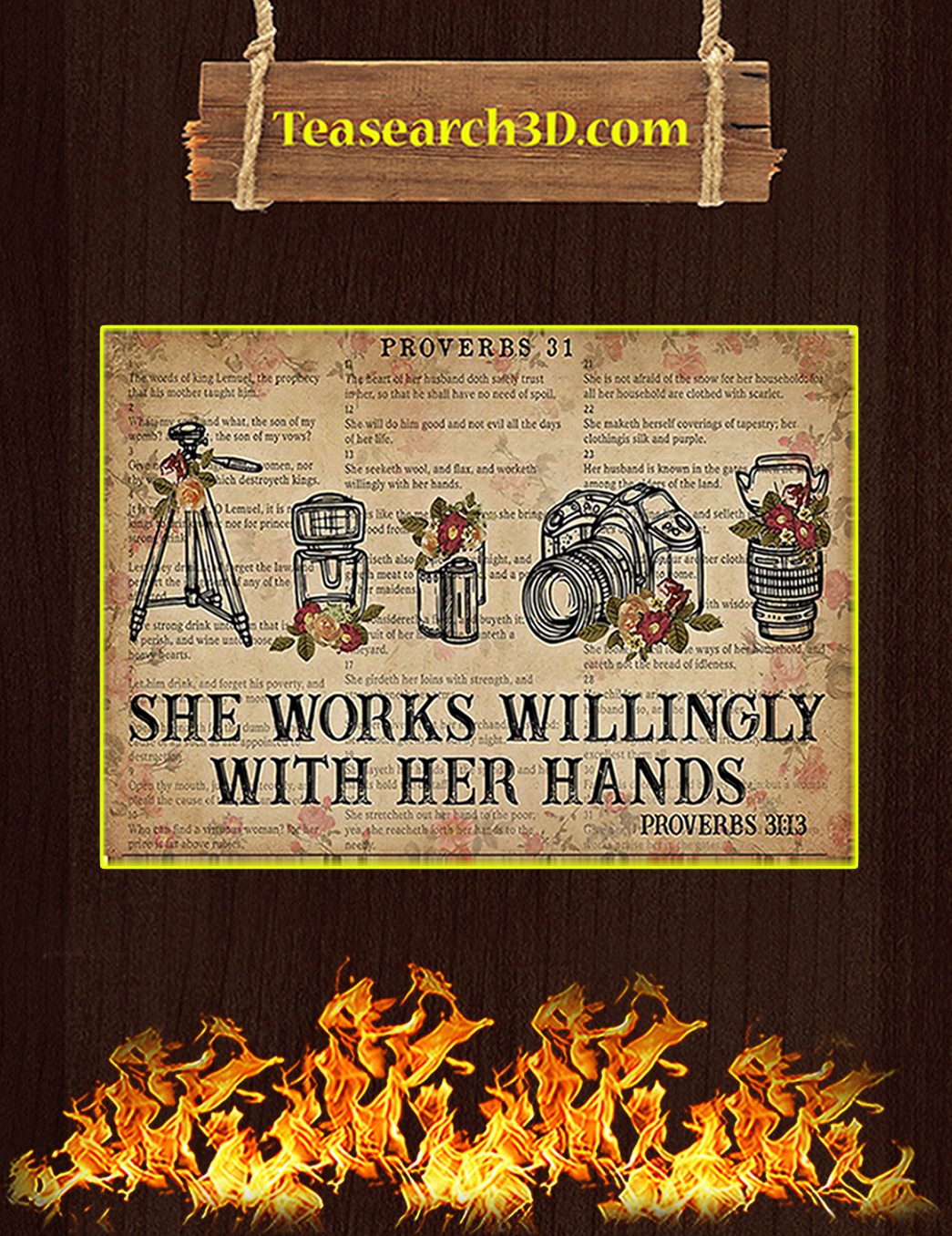 Photography She works willingly with her hands poster A1