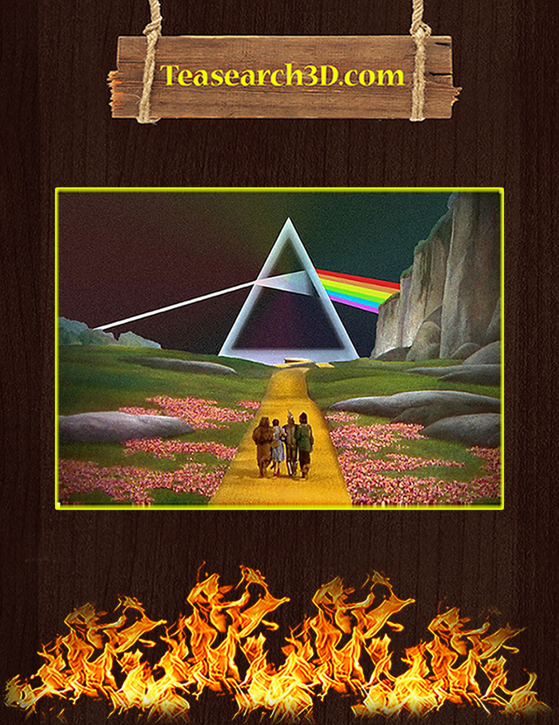 Pink floyd the dark side of the moon wizard of oz poster A3