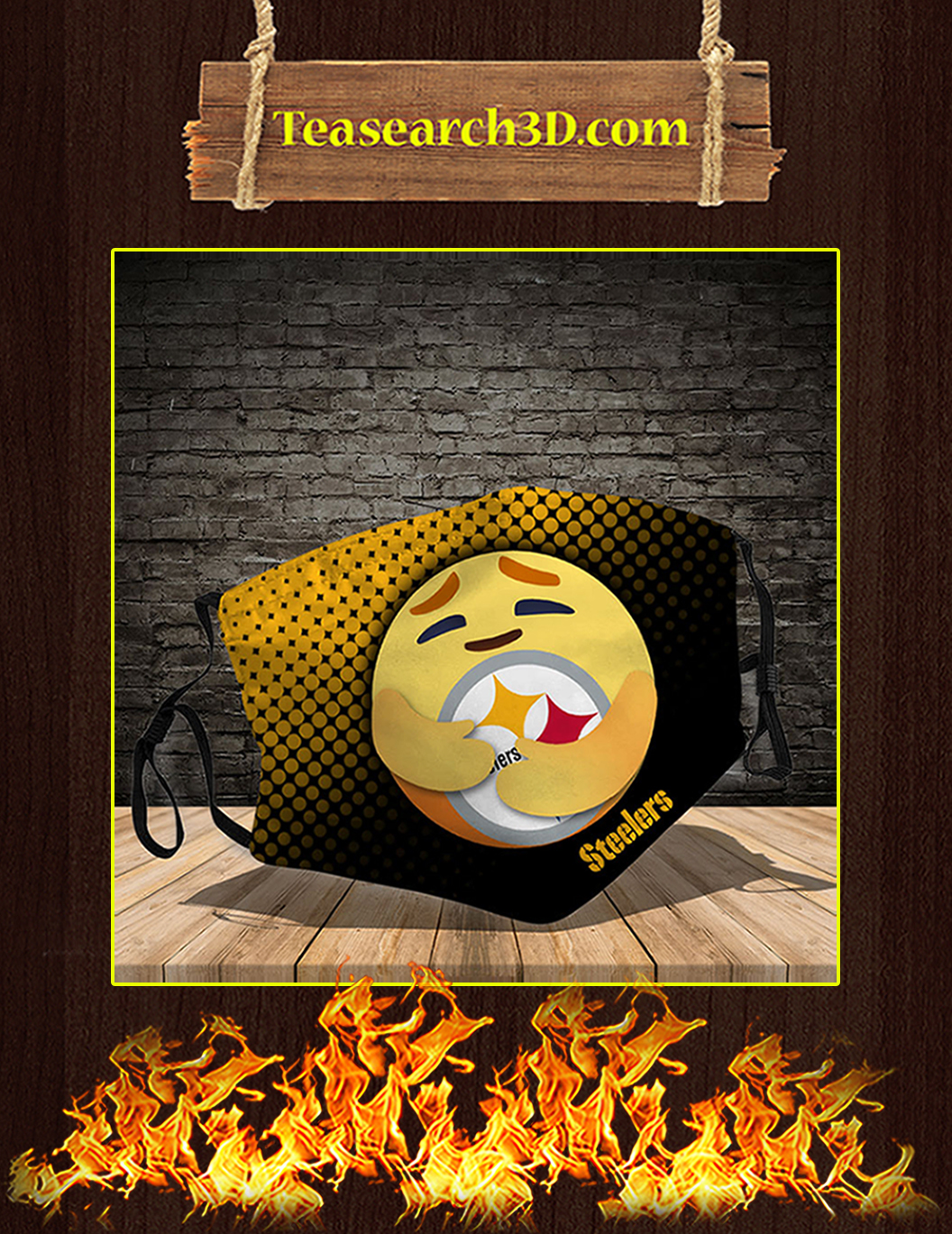 Pittsburgh Steelers care emoji face mask pack 10