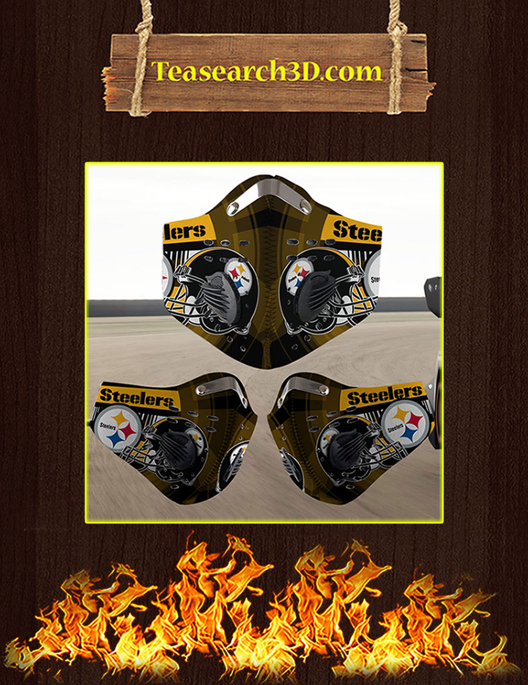 Pittsburgh Steelers filter face mask pack 10