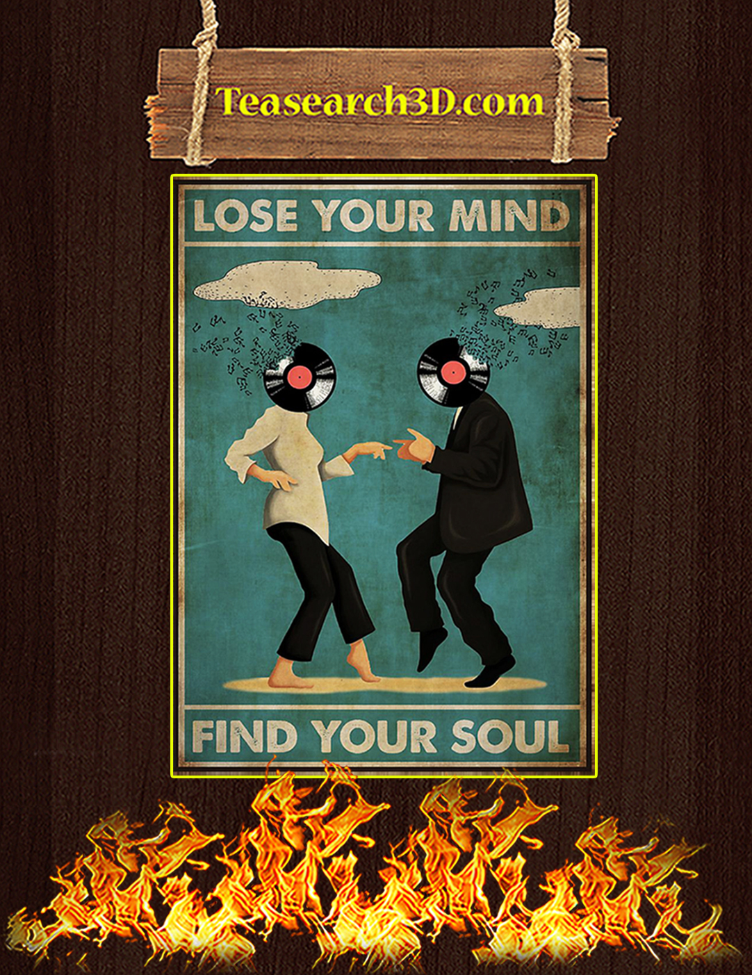 Pulp Fiction Lose your mind find your soul poster A2