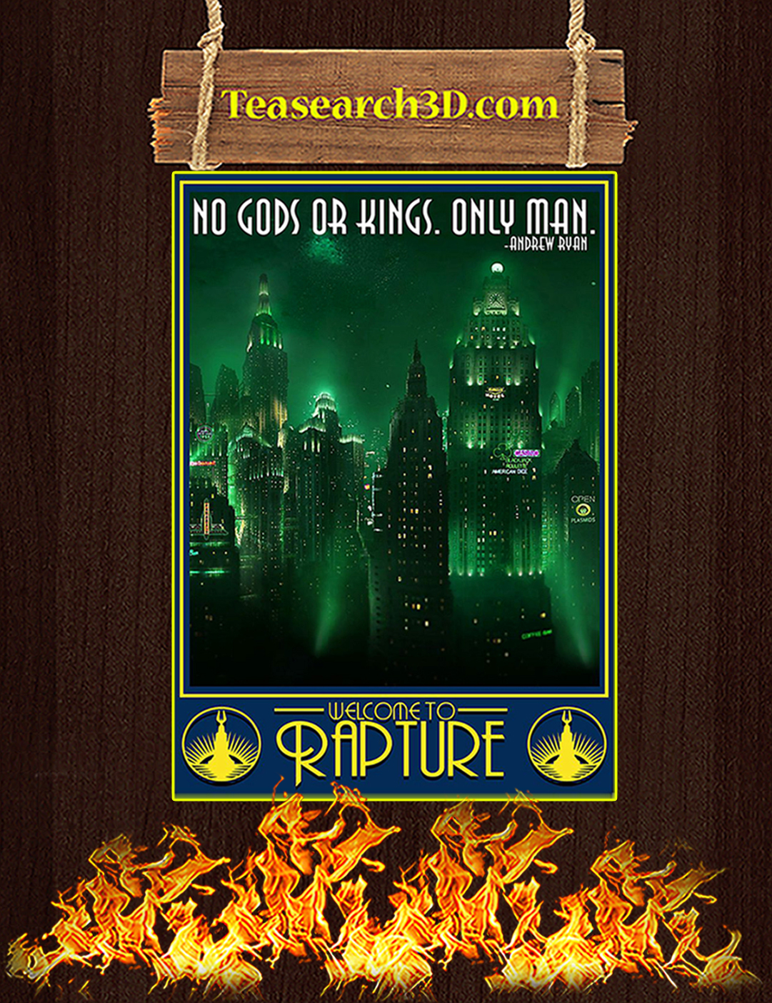 Rapture no gods or kings only man poster A2