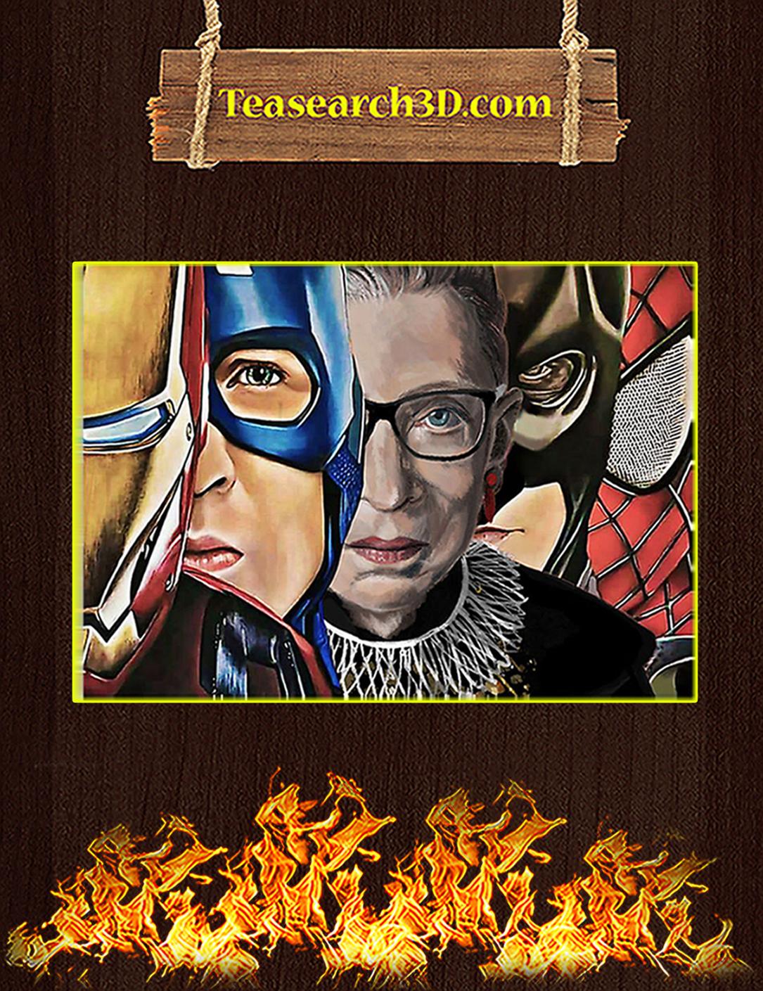 Ruth bader ginsburg superheroes poster A2
