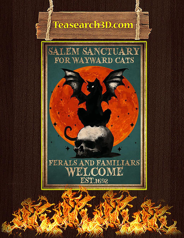 Salem sanctuary for wayward cats poster A1
