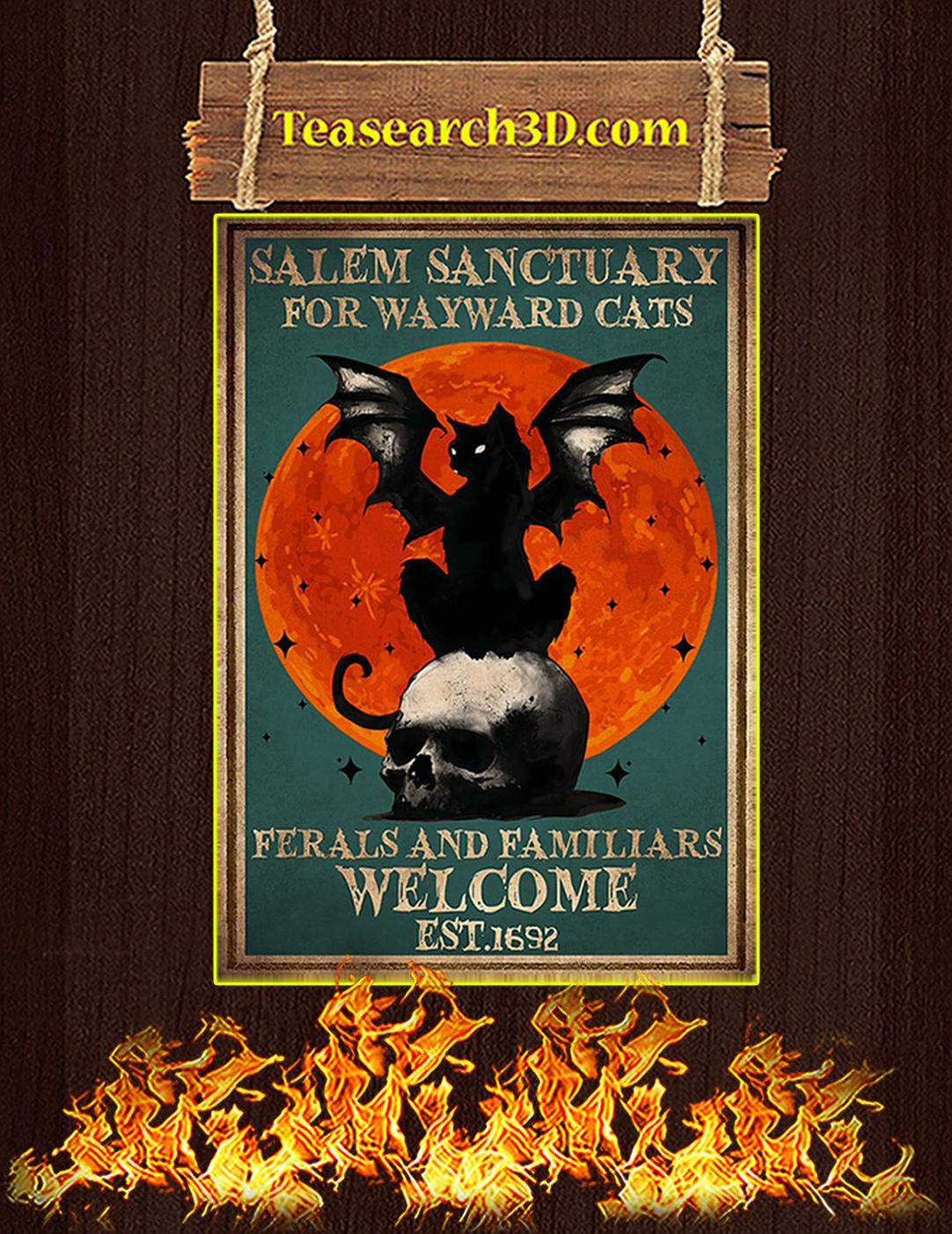 Salem sanctuary for wayward cats poster A2