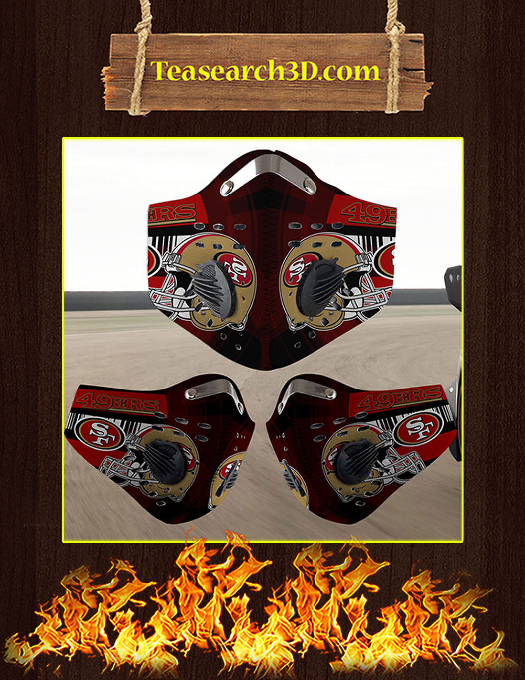 San Francisco 49ers filter face mask pack 5