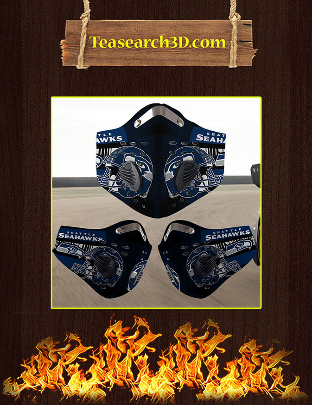 Seattle Seahawks filter face mask pack 3