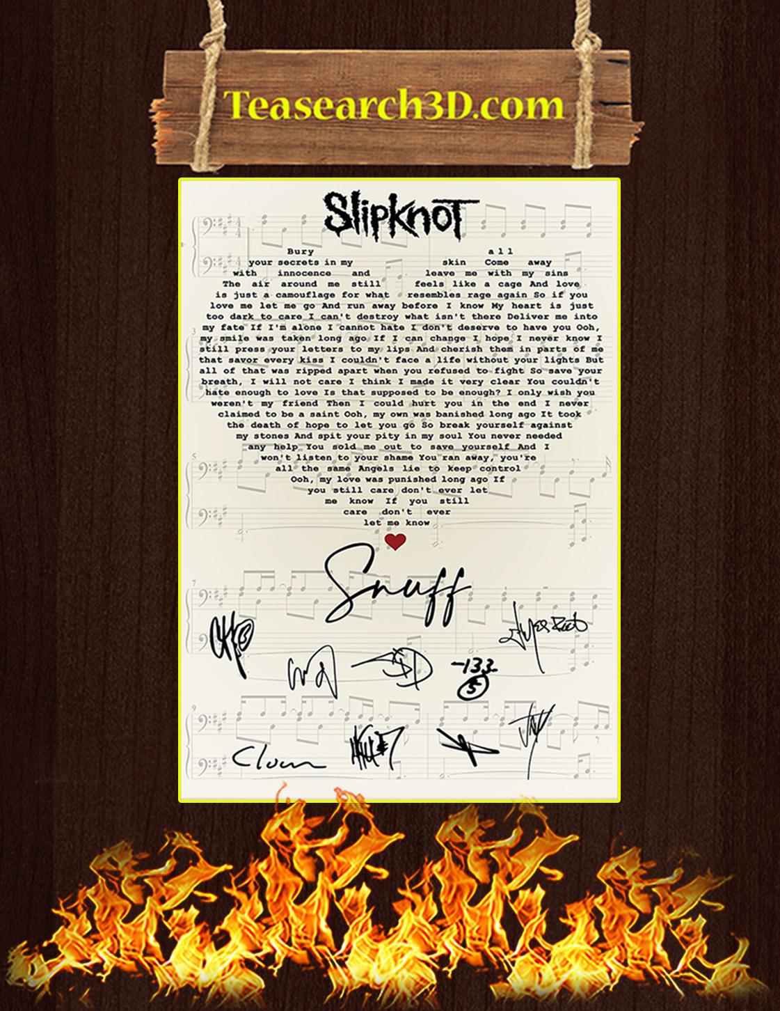Slipknot Snuff signatures poster A3