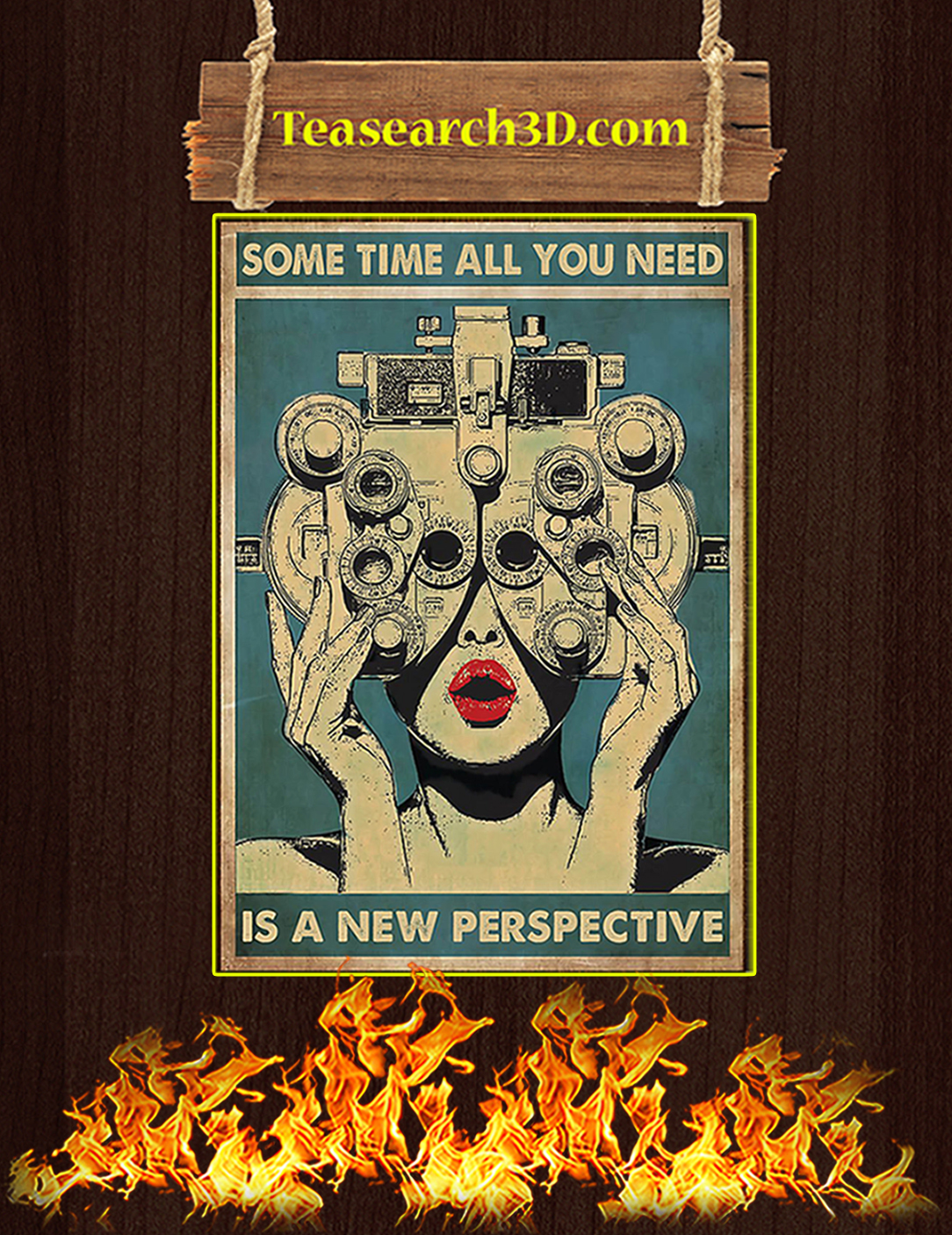 Some time all you need is a new perspective poster A2