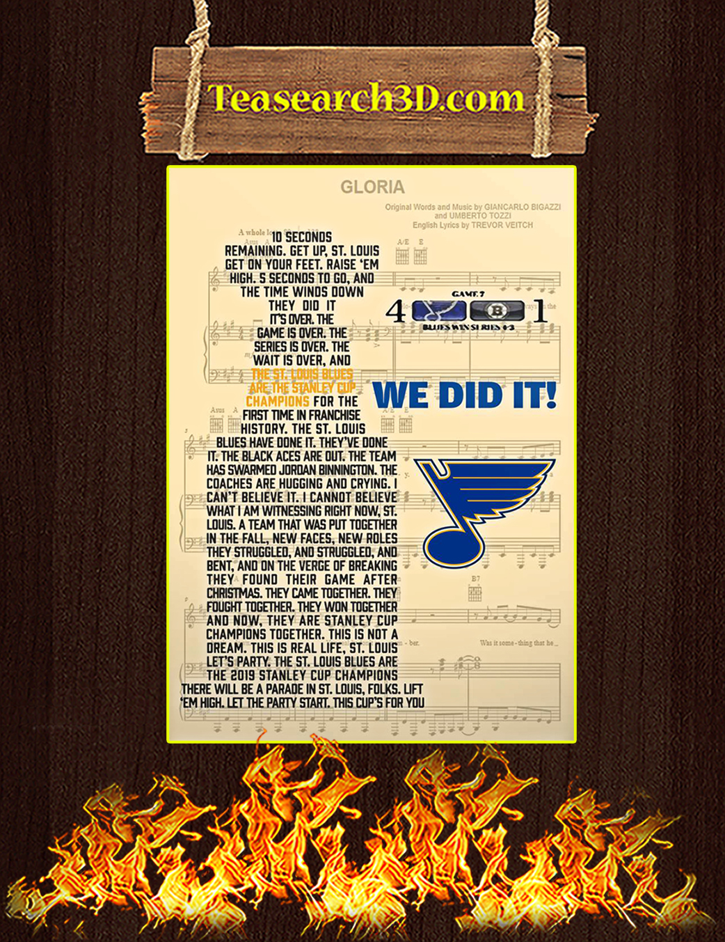St Louis Blues we did it poster A1