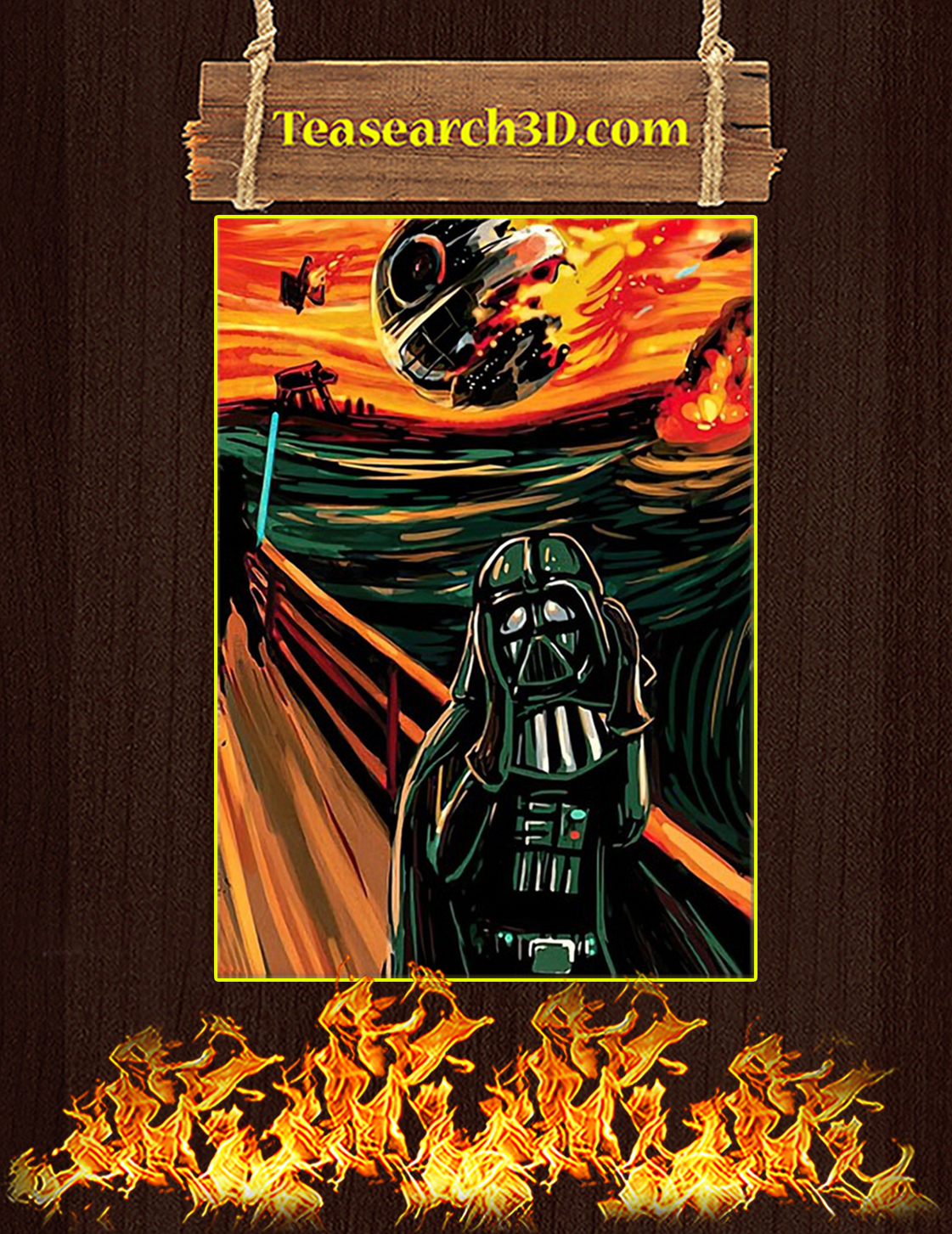 Star Wars The Vader Scream Poster A3
