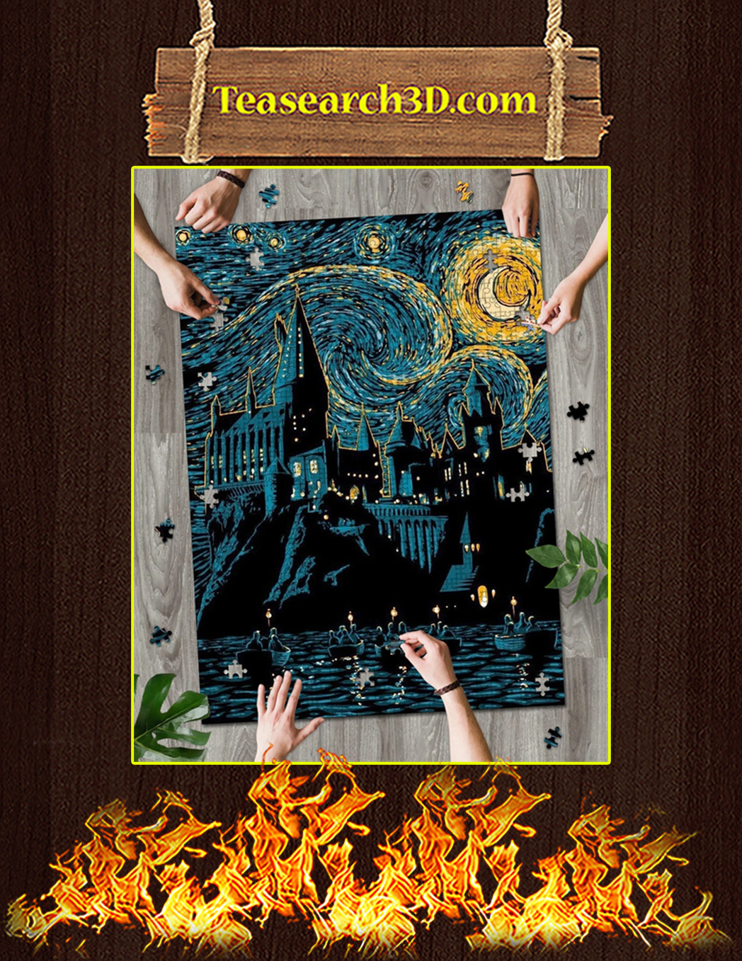 Starry night hogwarts puzzle 500 piece