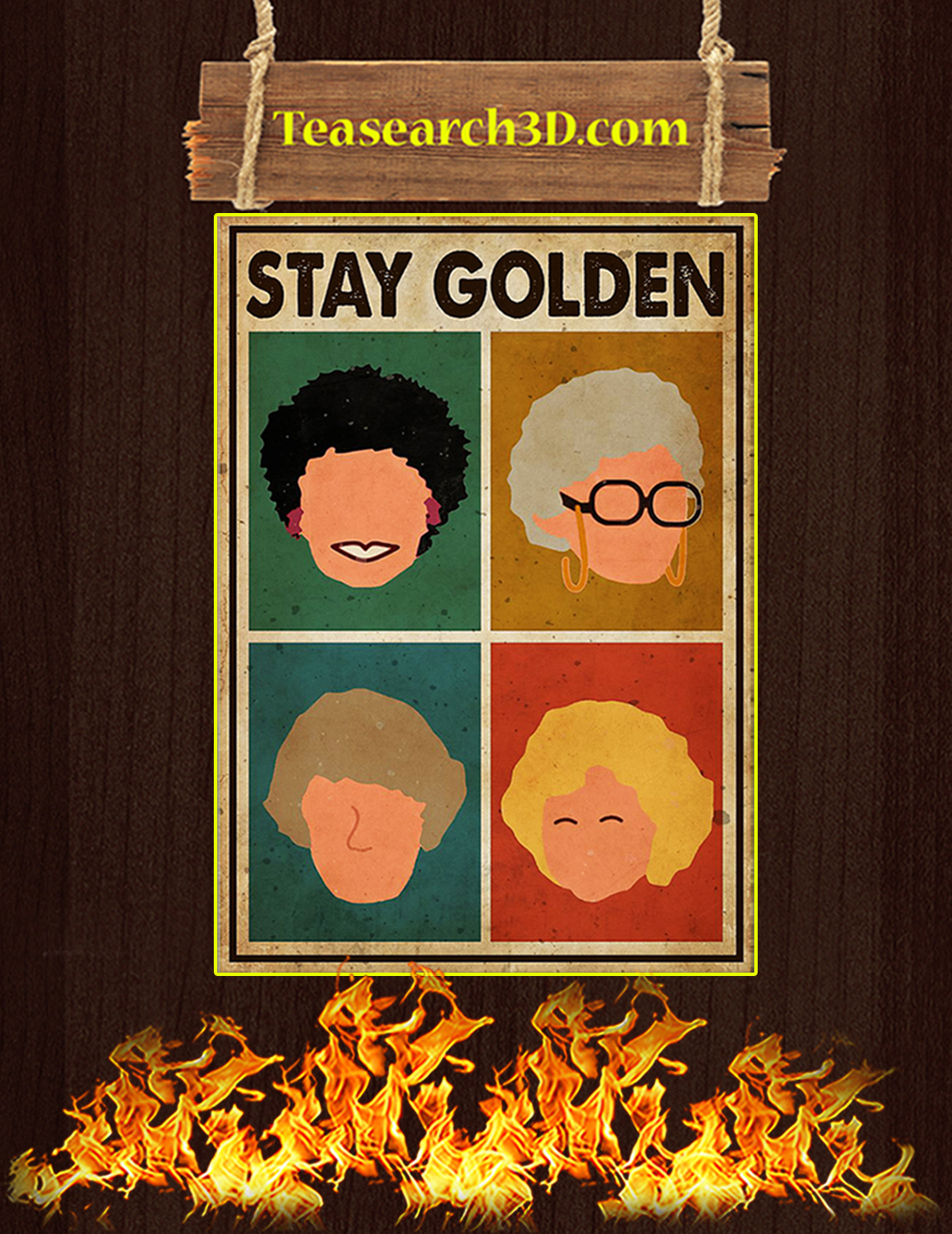 Stay golden poster A3