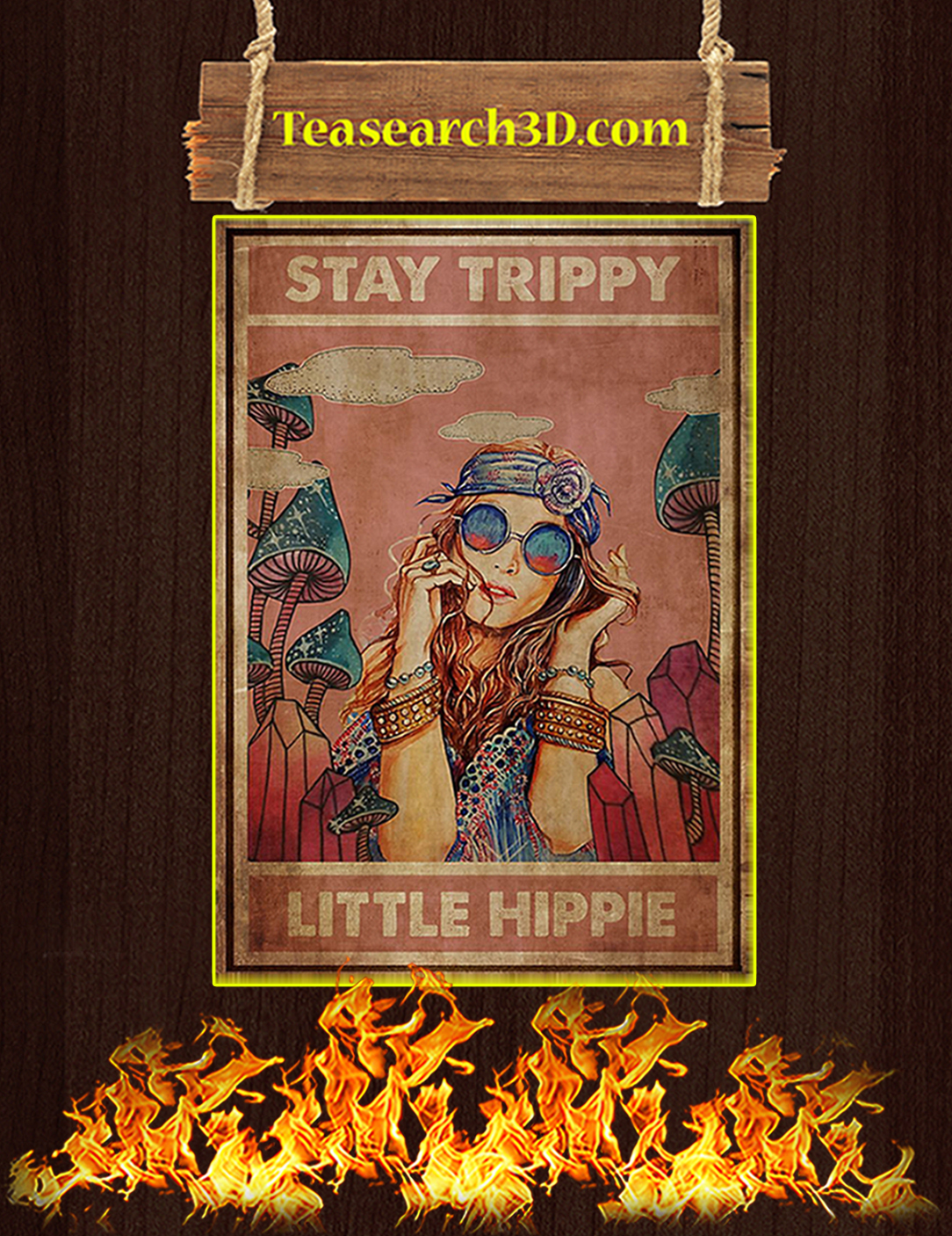 Stay trippy little hippie poster A2
