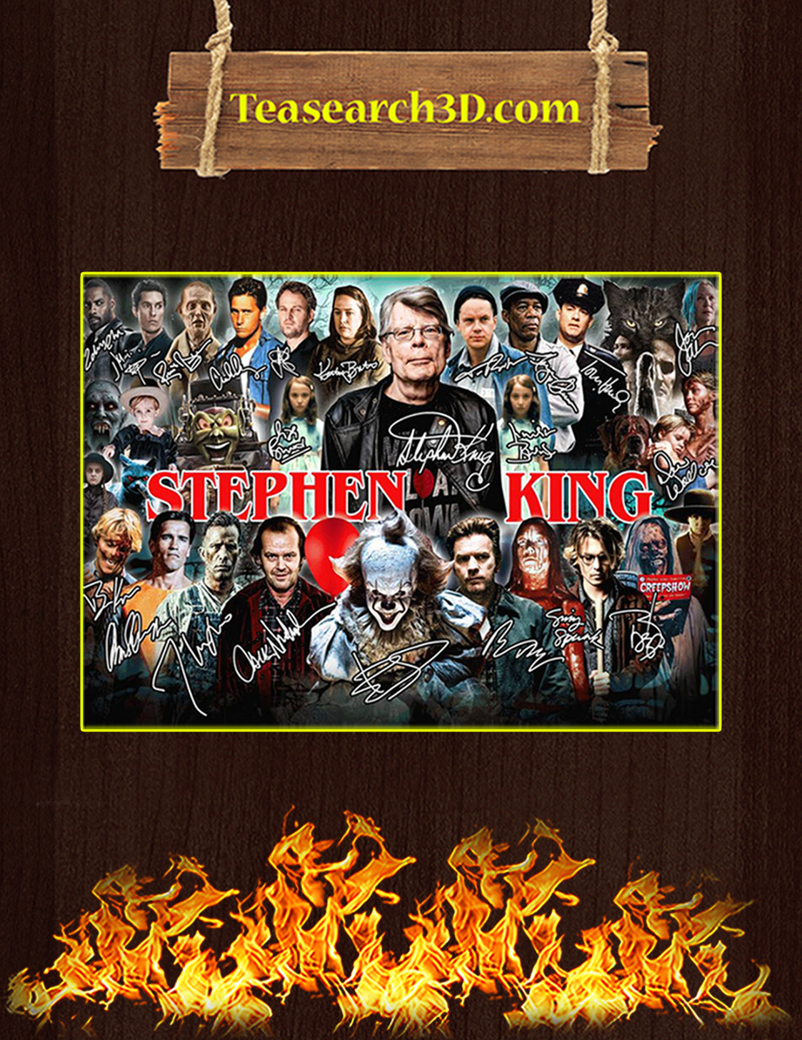 Stephen king film signature poster A3