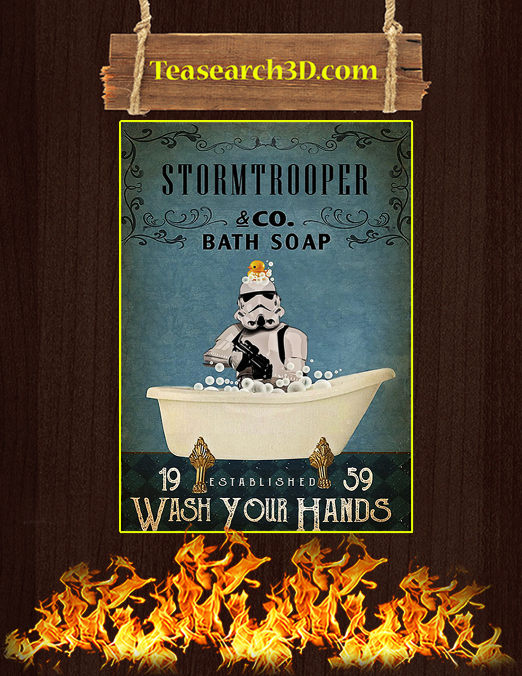 Stormtrooper co bath soap wash your hands poster A1