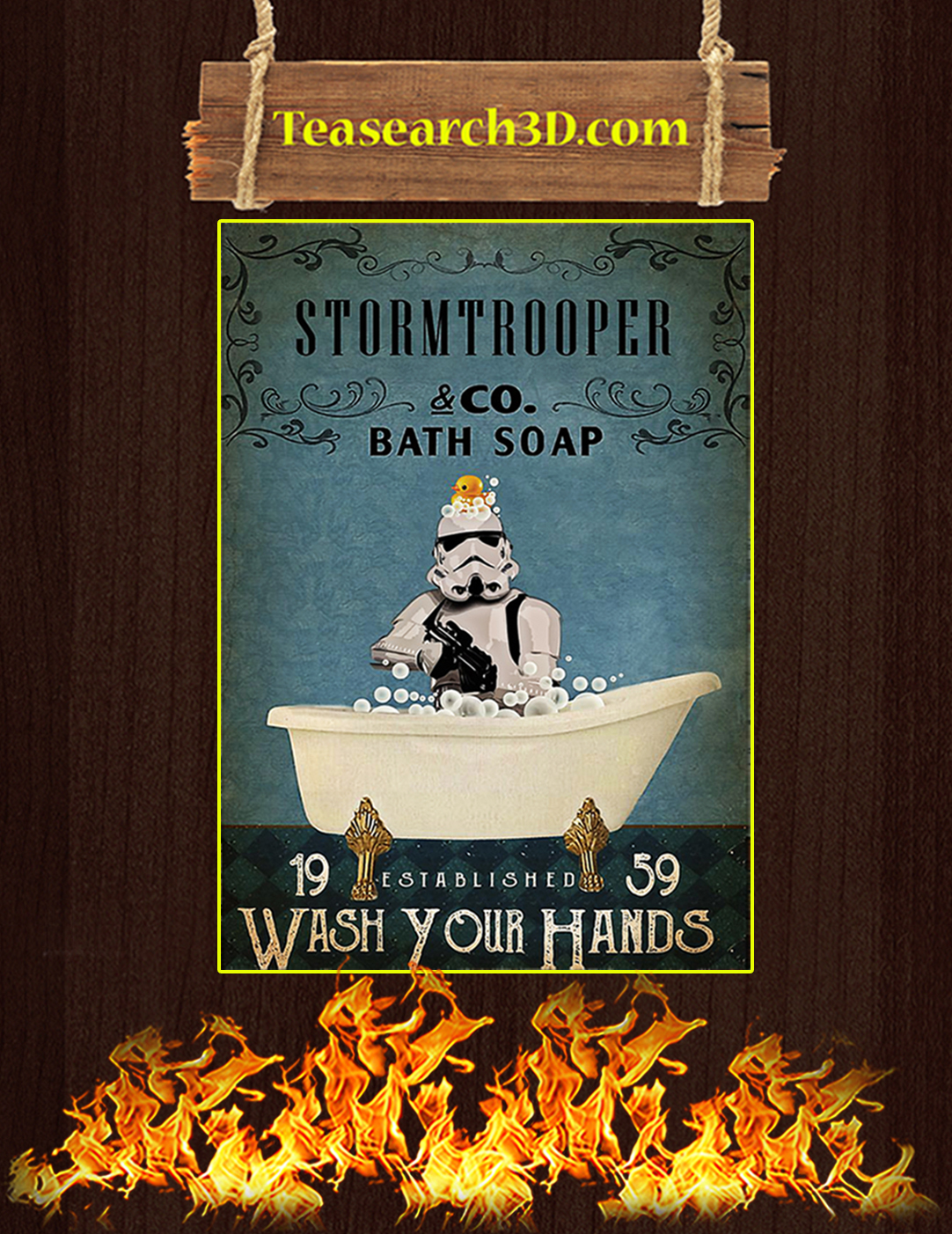 Stormtrooper co bath soap wash your hands poster A2