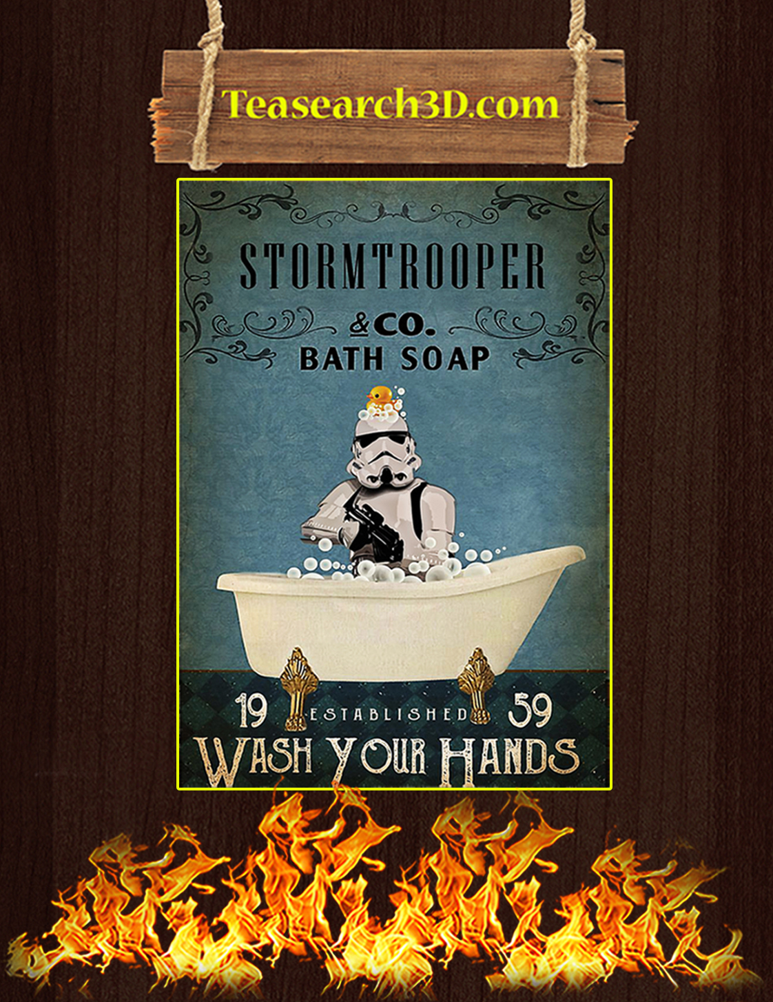 Stormtrooper co bath soap wash your hands poster A3