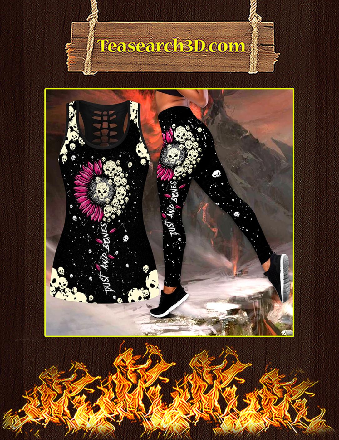 Sunflower Love Skull tanktop and legging pic 2