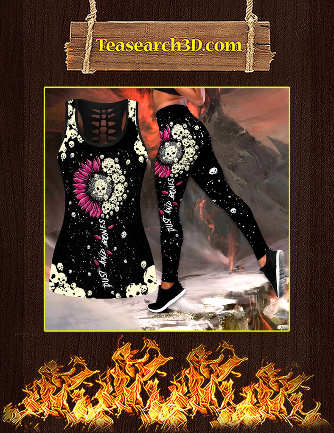 Sunflower Love Skull tanktop and legging pic 3