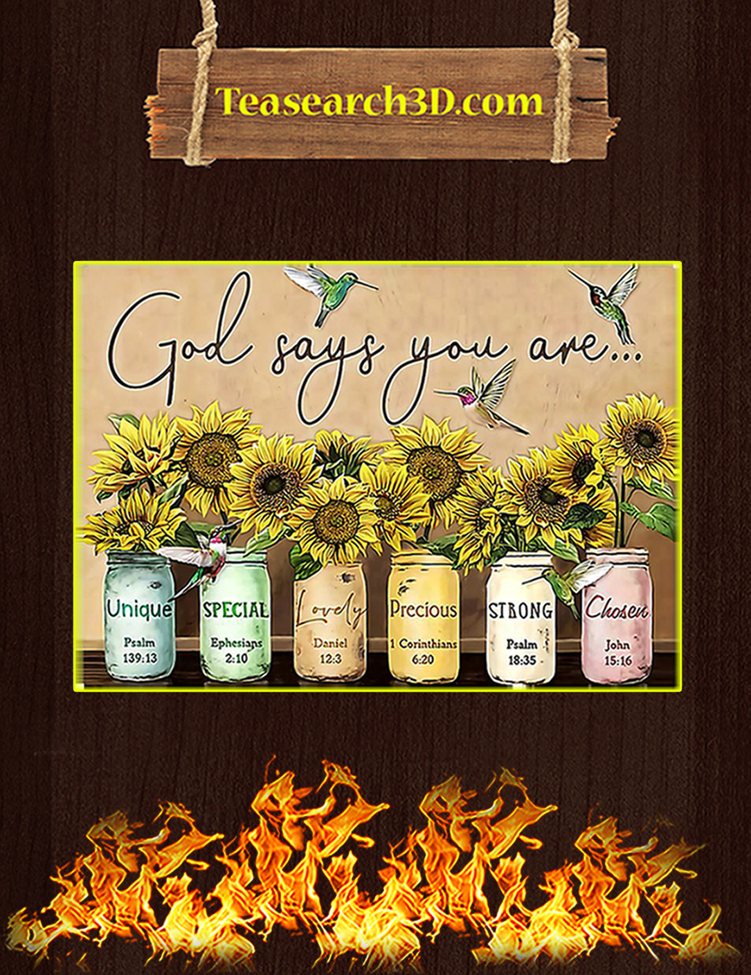 Sunflower God says you are poster A2