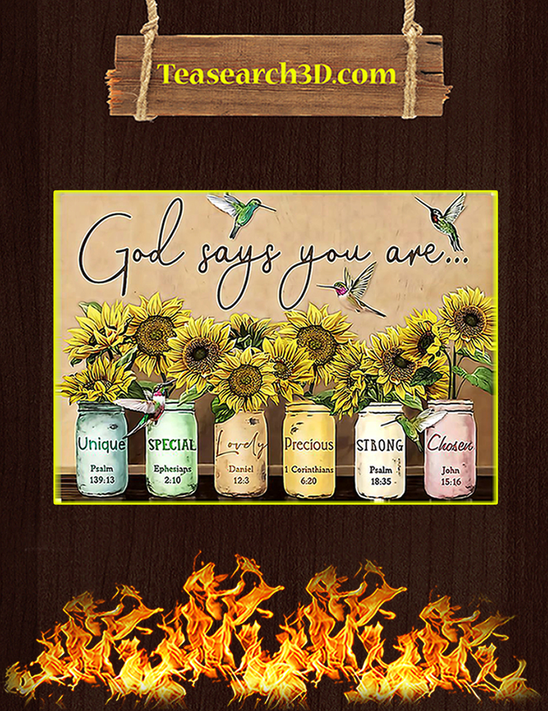 Sunflower God says you are poster A3
