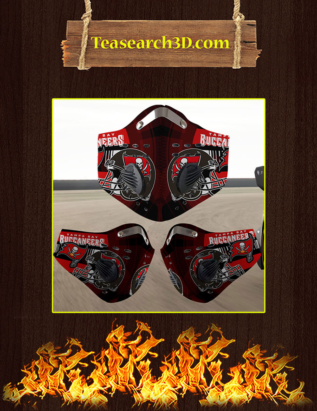 Tampa Bay Buccaneers filter face mask pack 10