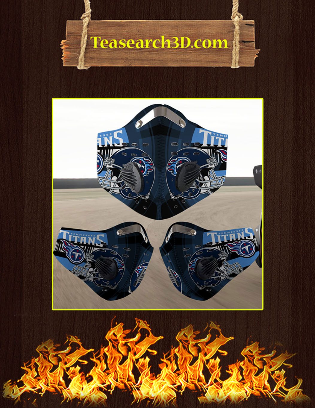 Tennessee Titans filter face mask pack 5