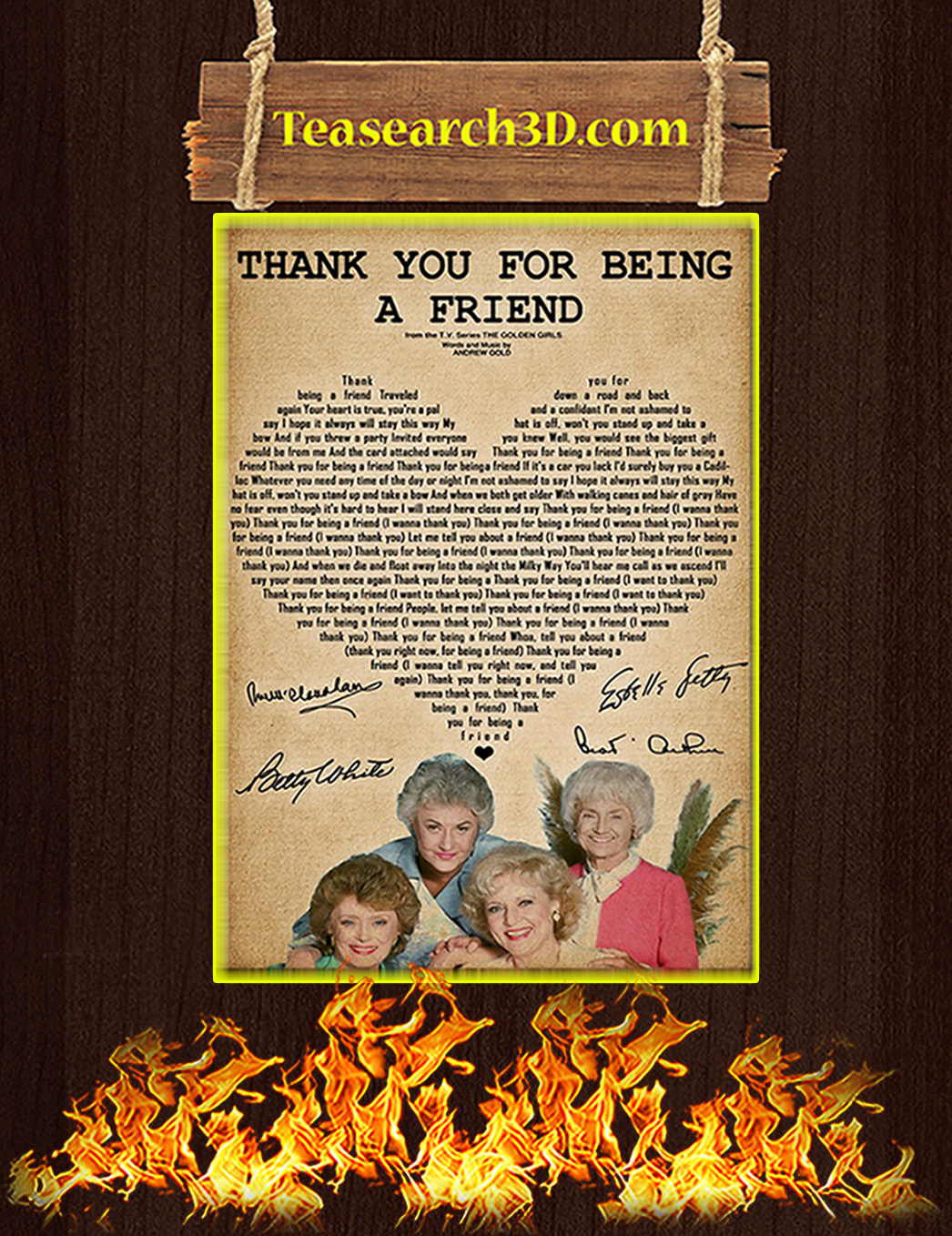 Thank you for being a friend golden girls poster A1