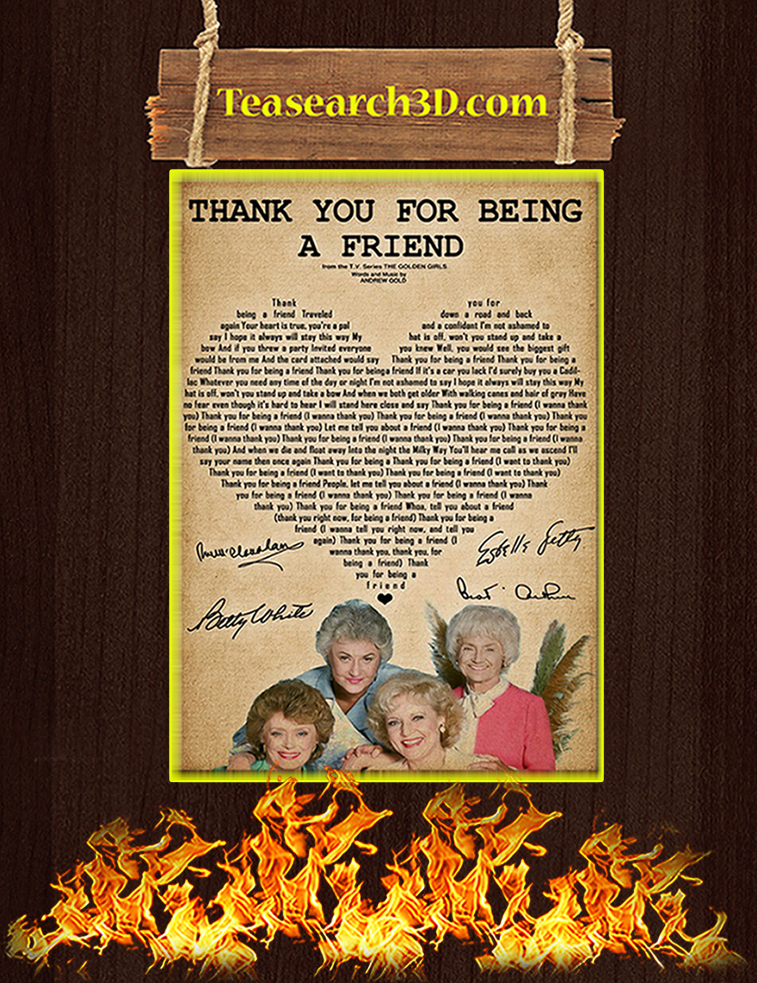 Thank you for being a friend golden girls poster A2