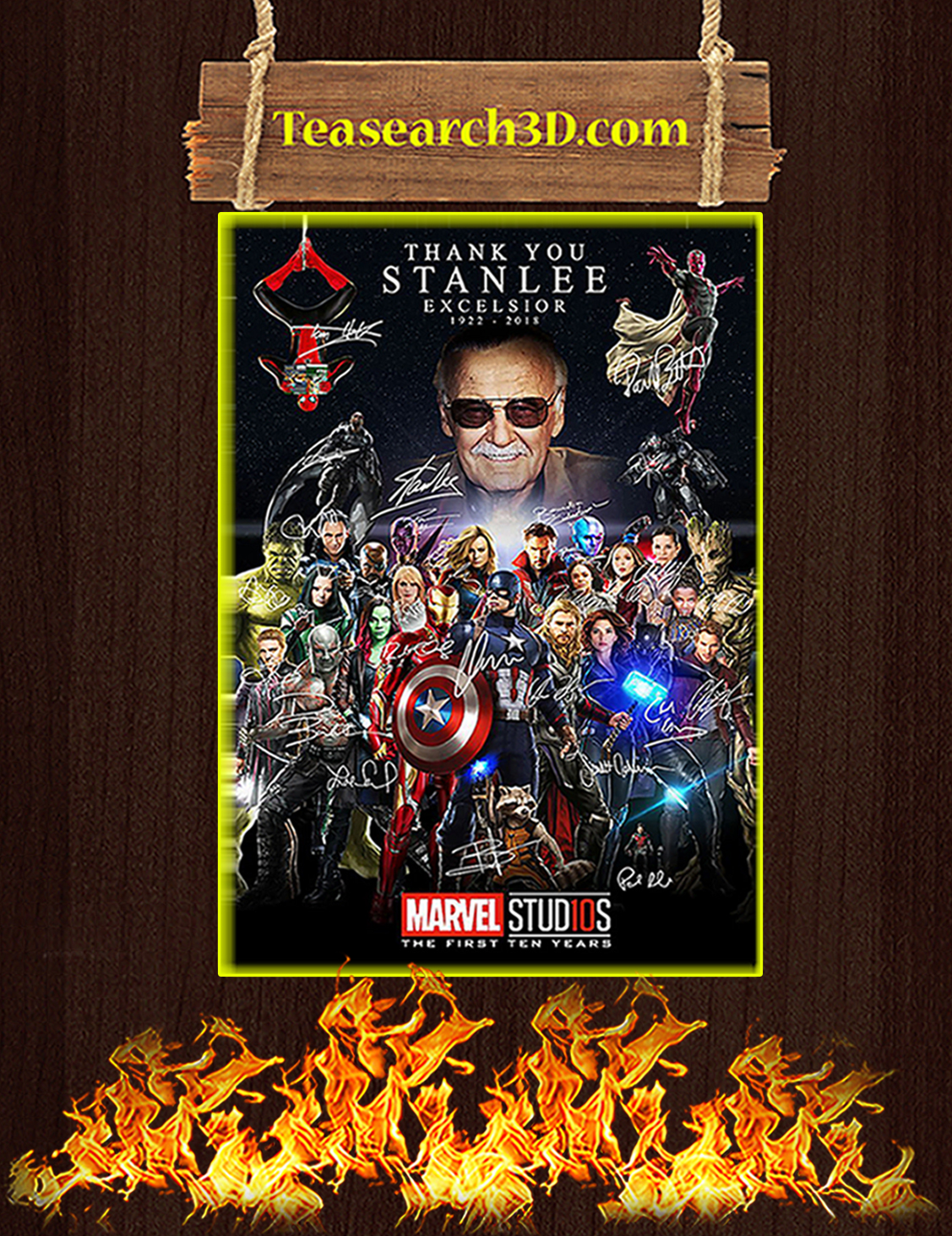 Thank you stanlee excelsior signature poster A3