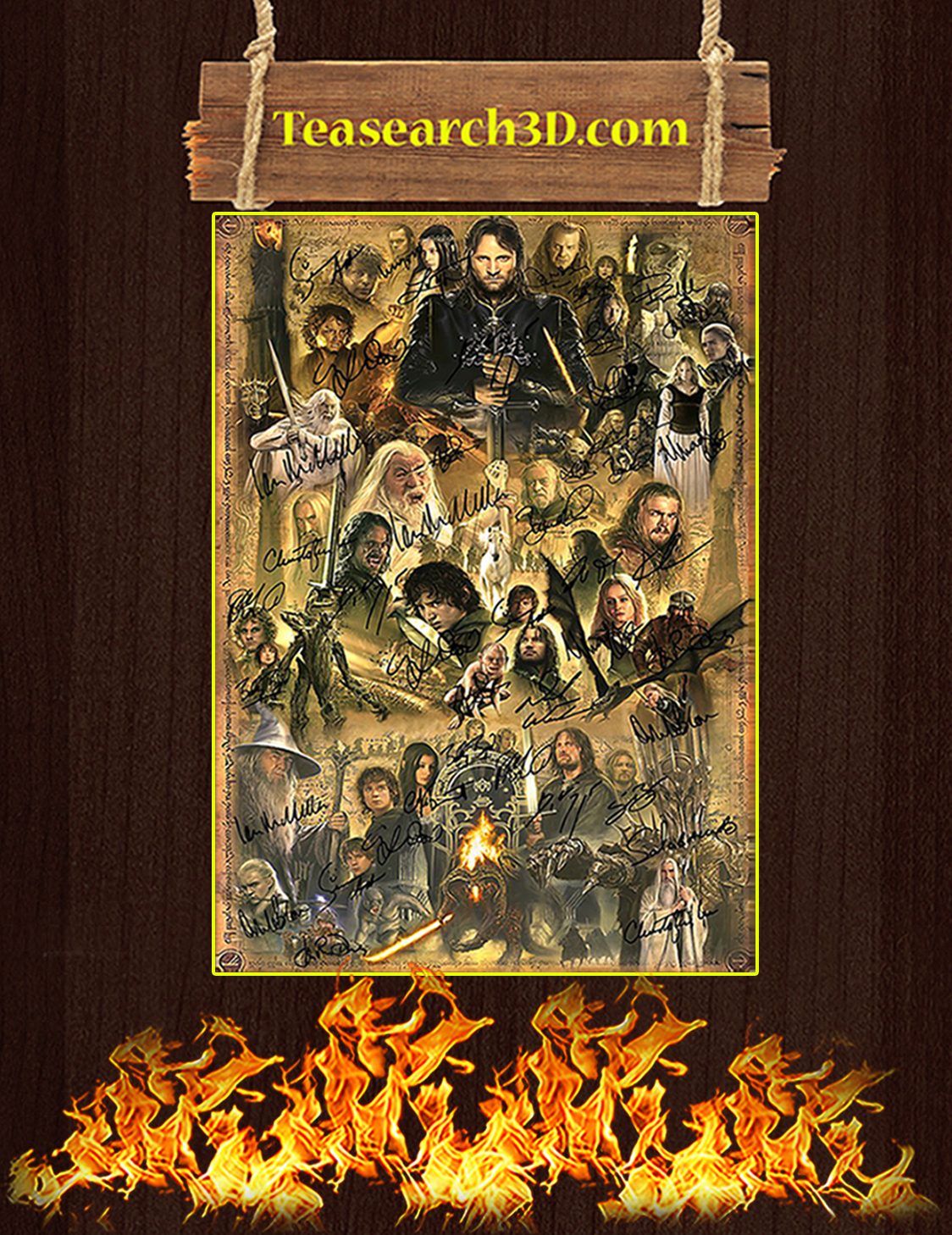 The lord of the rings signature poster A3