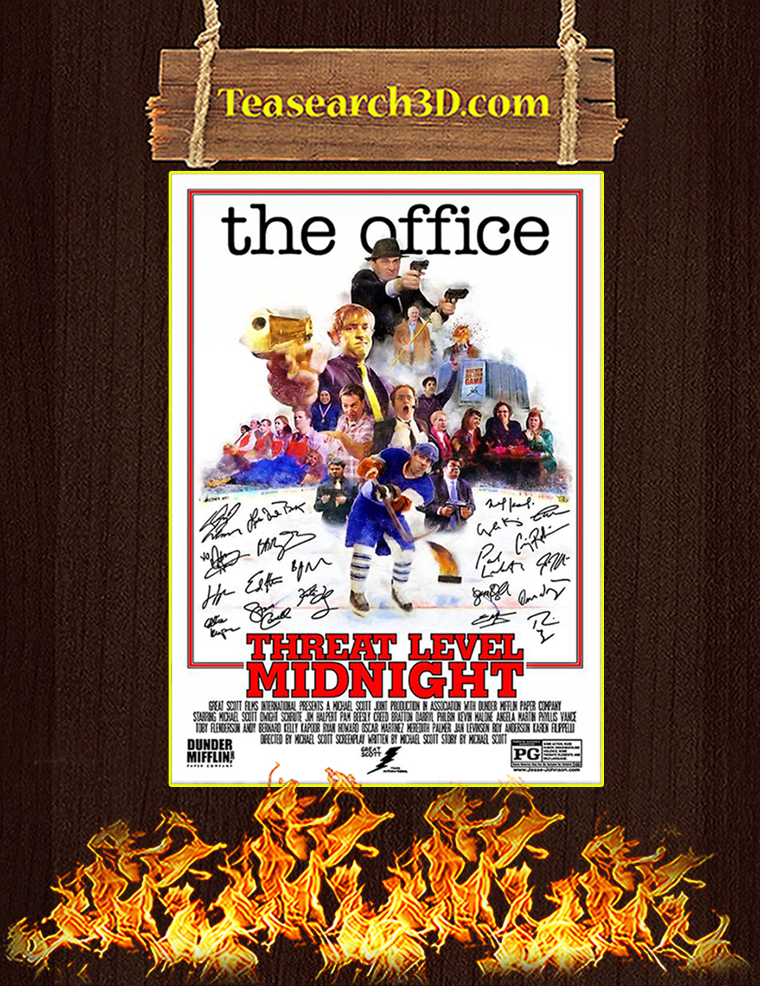 The office threat level midnight signature poster A2