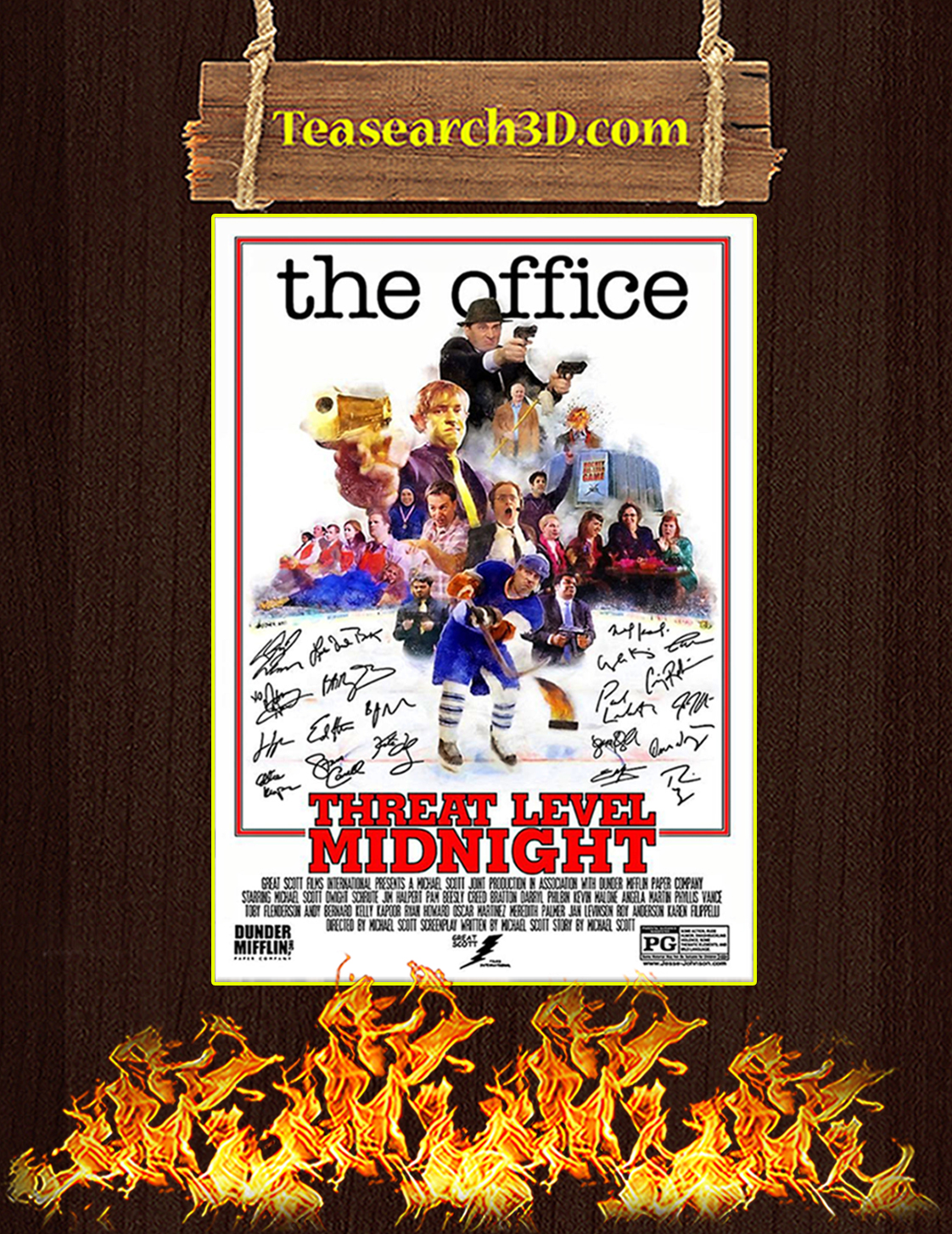 The office threat level midnight signature poster A3