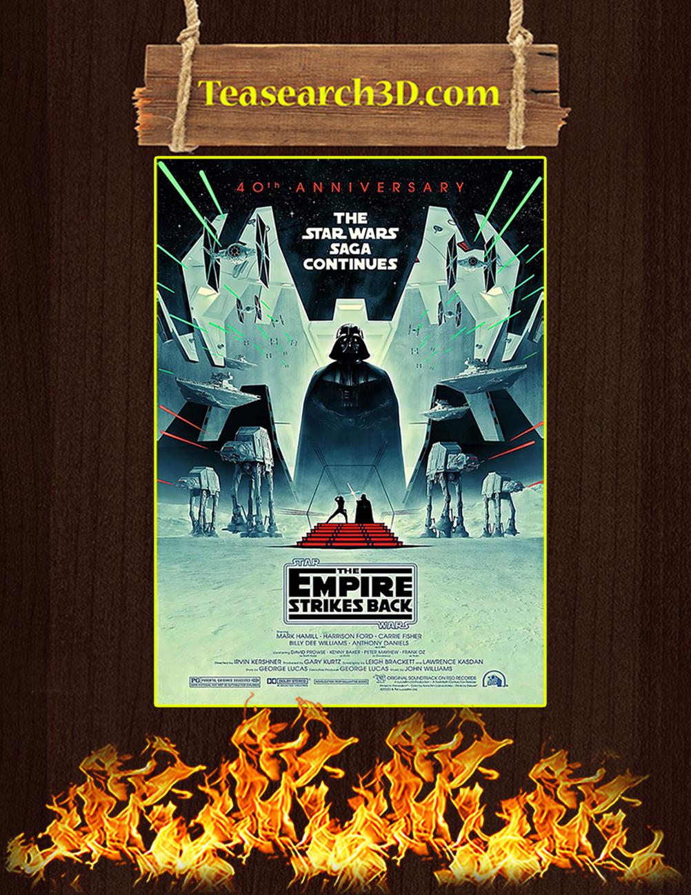 The star wars saga continues 40th anniversary poster