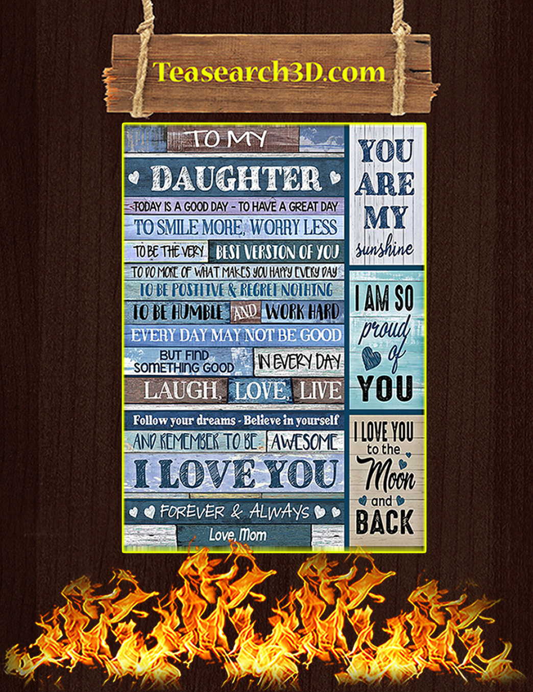 To my daughter today is a good day love mom poster A1