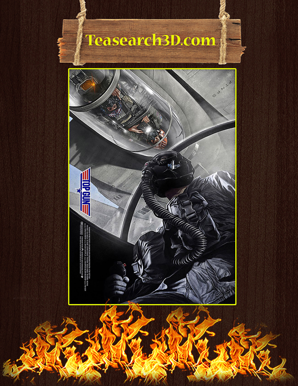 Top gun flyby poster A1