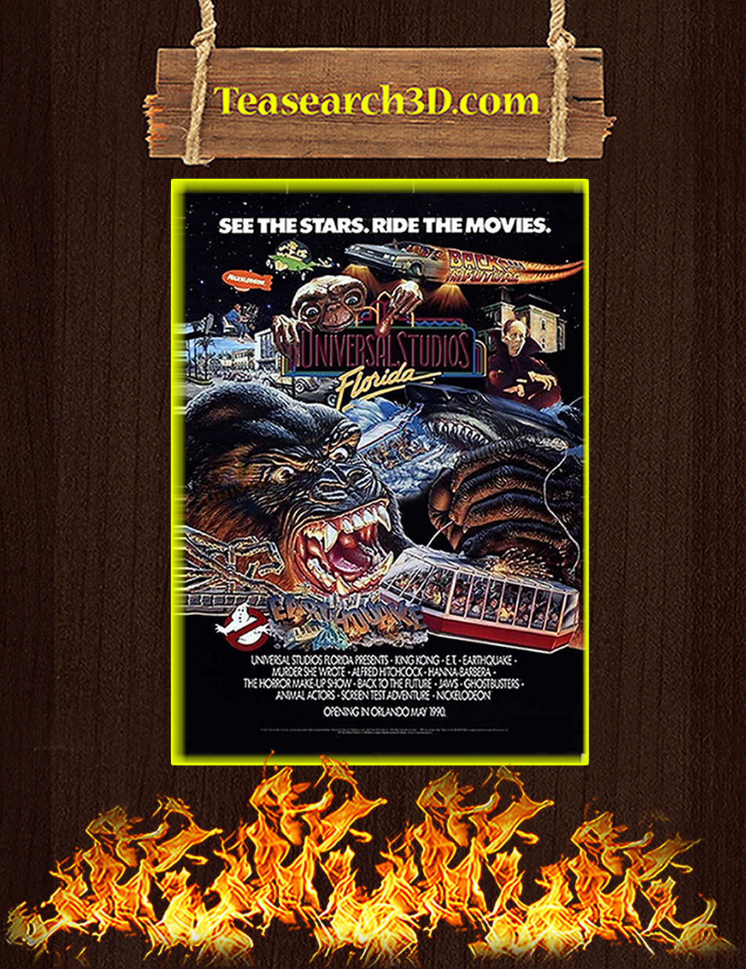 Universal studios see the stars ride the movies poster A1