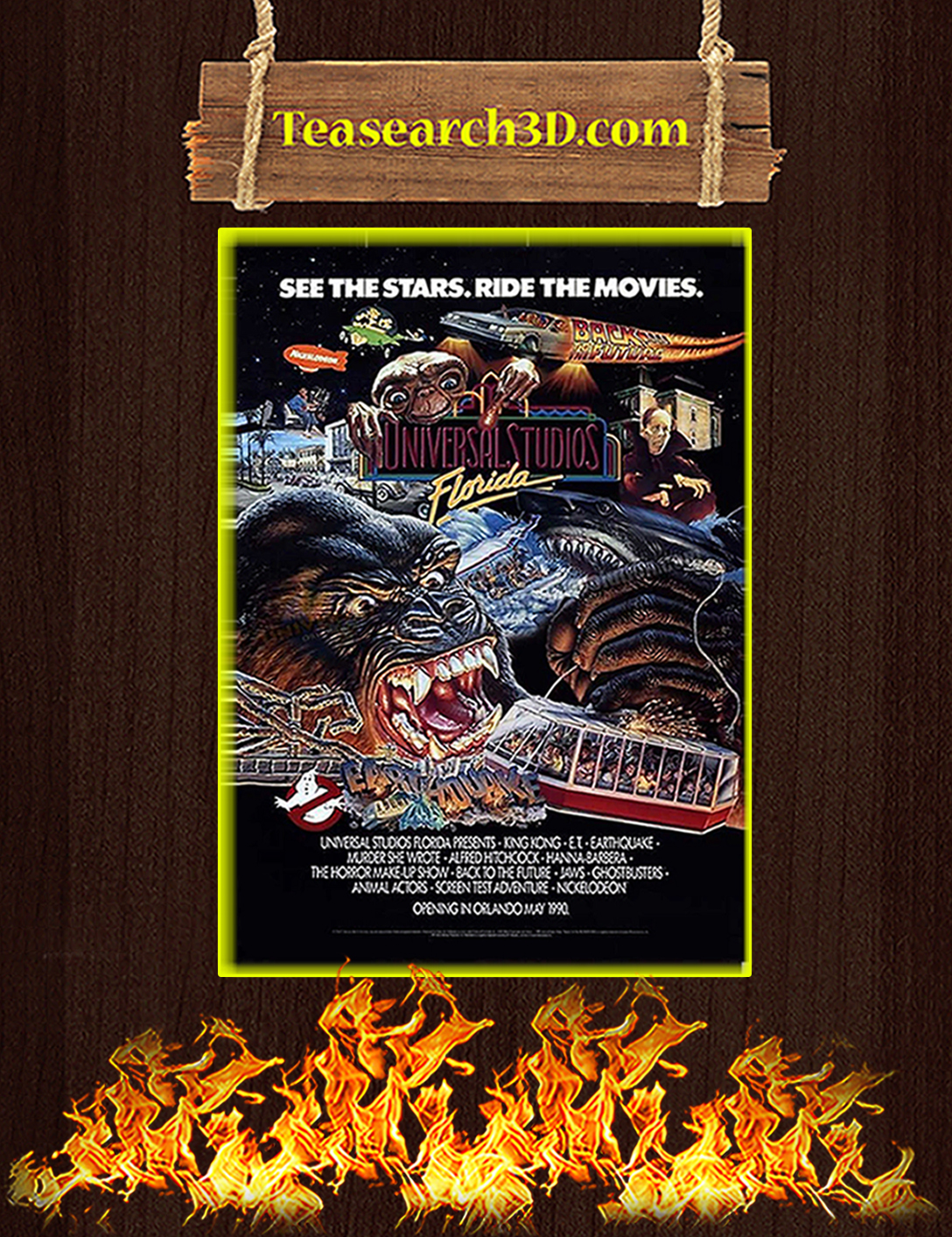 Universal studios see the stars ride the movies poster A2