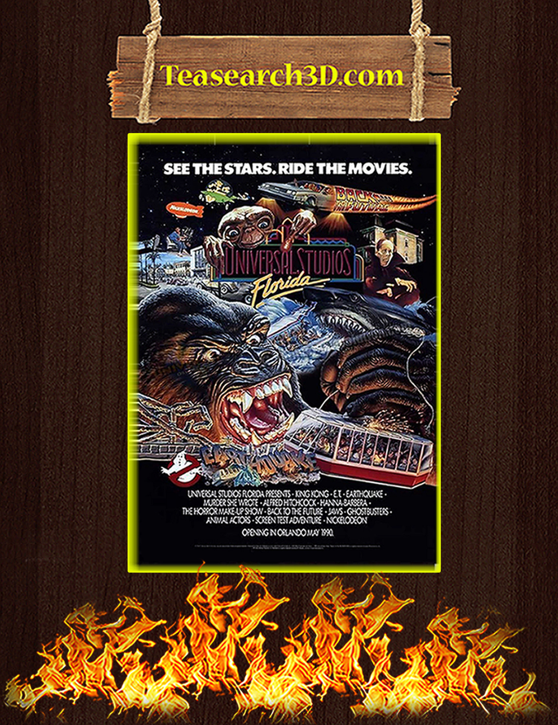 Universal studios see the stars ride the movies poster A3