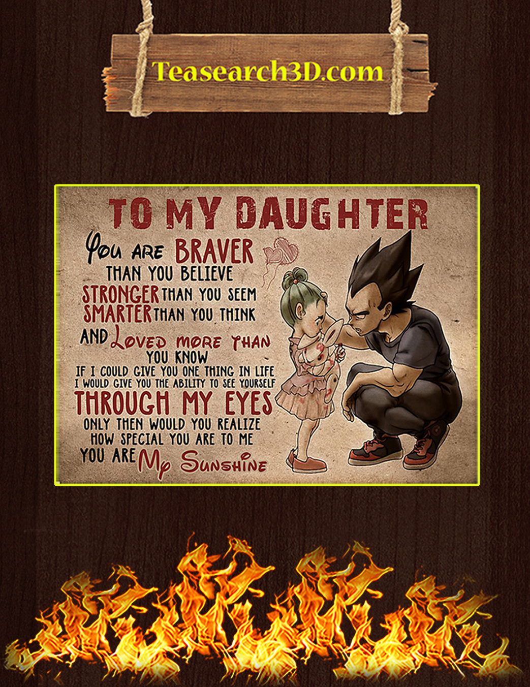 Vegeta to my daughter poster A1